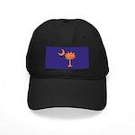 Orange and Purple SC Flag Black Cap