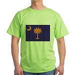 Orange and Purple SC Flag Green T-Shirt