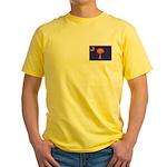 Orange and Purple SC Flag Yellow T-Shirt