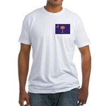 Orange and Purple SC Flag Fitted T-Shirt