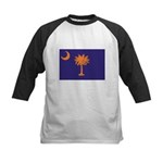 Orange and Purple SC Flag Kids Baseball Jersey