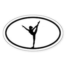 Gymnastics Gymnast Oval Decal