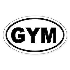 Basic Gym Oval Bumper Stickers