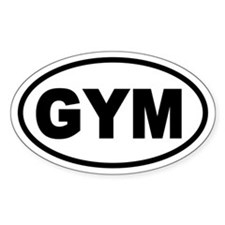 Basic Gym Oval Decal