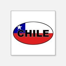 "Funny Flags chilean Square Sticker 3"" x 3"""