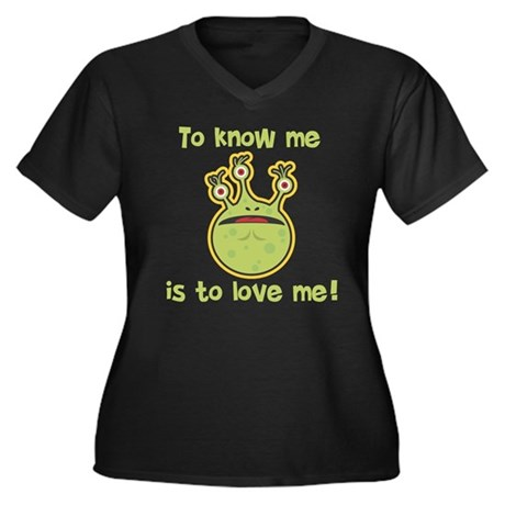 To Know Me Monster Women's Plus Size V-Neck Dark T