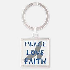 Peace Love Faith Keychains