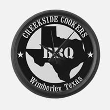 Funny Texas bbq Large Wall Clock