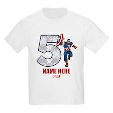 Avengers Captain America Age 5 T-Shirt