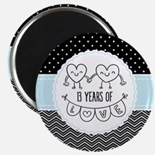13th Anniversary Gift For Her Magnet