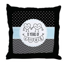 13th Anniversary Gift For Her Throw Pillow