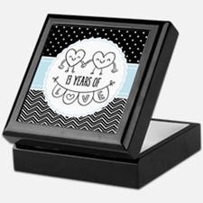 13th Anniversary Gift For Her Keepsake Box