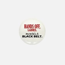 Hands Off Ladies 1 Mini Button (10 pack)