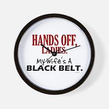 Hands Off Ladies 1 Wall Clock