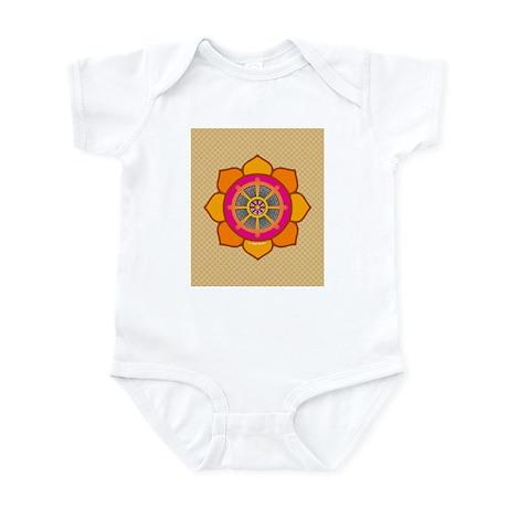 Lotus Dharma Wheel Infant Bodysuit