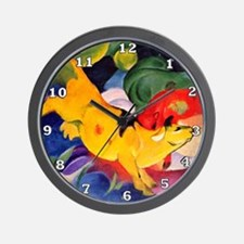 Yellow Cow Wall Clock
