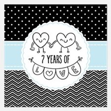 7th Anniversary Gift For He Invitations