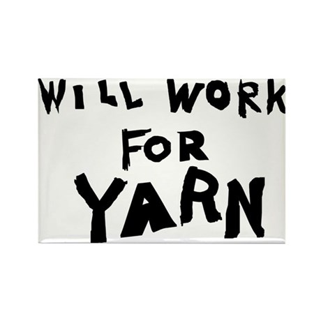 Will Work For Yarn Rectangle Magnet (100 pack)