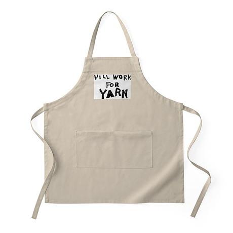 Will Work For Yarn BBQ Apron