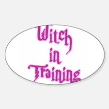 Witch in Training 1 Oval Decal