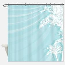Tropical Breeze Aqua Shower Curtain