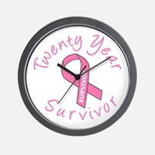 Twenty Year Survivor Wall Clock