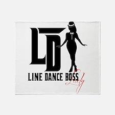 Line Dance Boss Lady Style 3 Throw Blanket