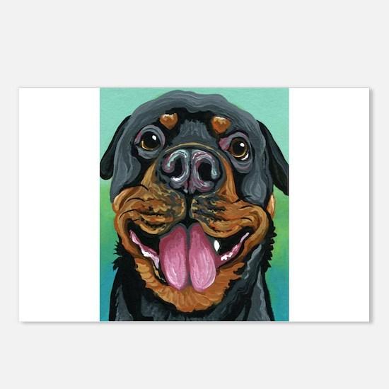 Rottweiler Dog Postcards (Package of 8)