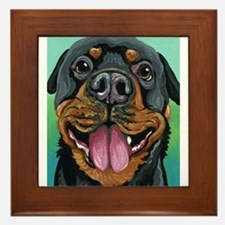 Rottweiler Dog Framed Tile