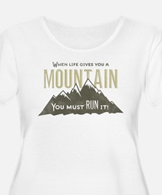 Mountain Runner Plus Size T-Shirt