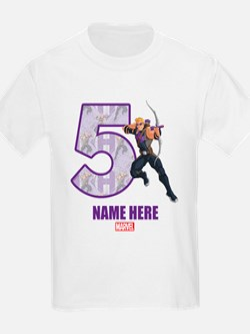 Personalized Hawkeye Age 5 T-Shirt