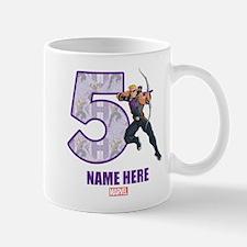 Personalized Hawkeye Age 5 Mug