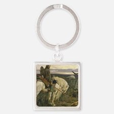 Cute Middle ages Square Keychain