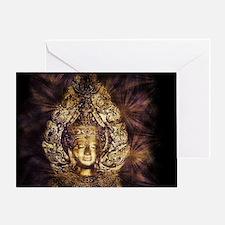 Cute Buddhist symbol Greeting Card