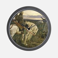 The knight at the crossroads Wall Clock