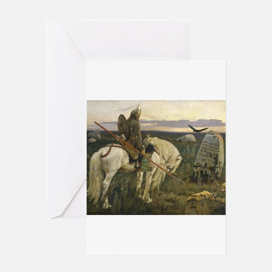The knight at the crossroads Greeting Cards