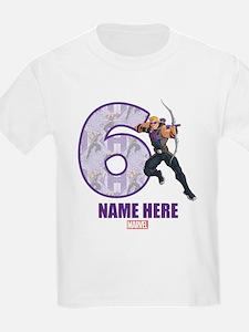 Personalized Hawkeye Age 6 T-Shirt