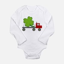 Cute St patricks day tuxedo Long Sleeve Infant Bodysuit