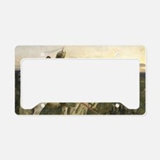 The knight at the crossroads License Plate Holder