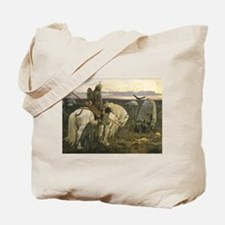 The knight at the crossroads Tote Bag
