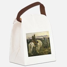 The knight at the crossroads Canvas Lunch Bag