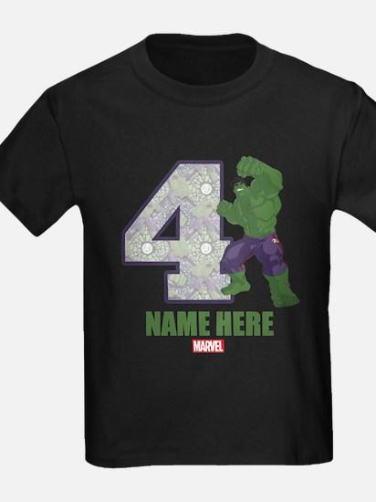 Personalized Hulk Age 4 T