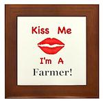 Kiss Me Farmer Framed Tile