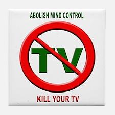 Abolish Mind Control Tile Coaster