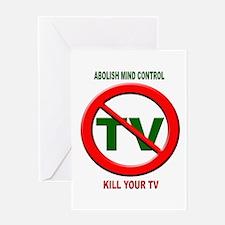 Abolish Mind Control Greeting Card