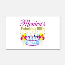 SNAZZY 60TH DIVA Car Magnet 20 x 12