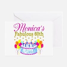 SNAZZY 60TH DIVA Greeting Card