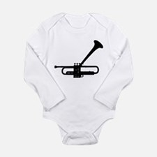 Funny Big band Long Sleeve Infant Bodysuit