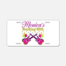 SNAZZY 60TH DIVA Aluminum License Plate