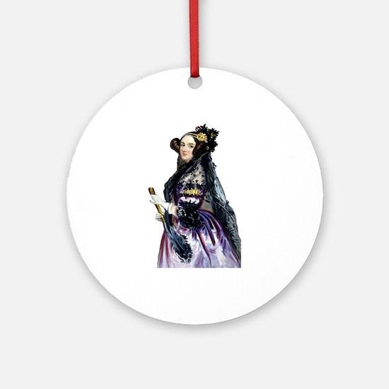 ada lovelace Round Ornament